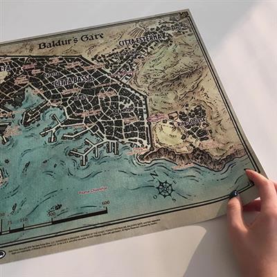 Mappa di Baldur's Gate - dimensione