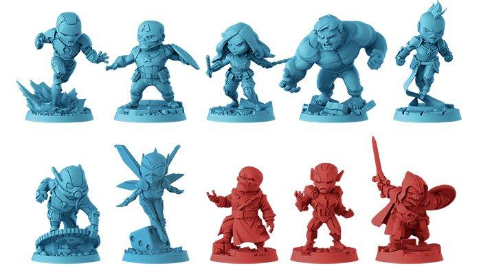 Marvel United - miniature di gioco